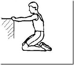 屈膝练习之保护下跪坐