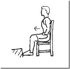 """十字韧带重建康复屈膝练习之坐椅子""""顶墙"""
